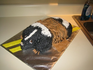 roadkill skunk cake