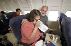 sick on plane