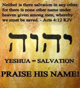 Yeshua salvation