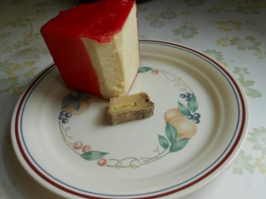 Section of 18 month old cheddar and the last morsel of a divine manchego...  Going, going, gone.  :(