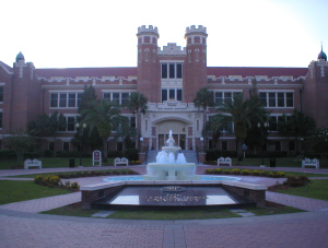 Florida State University, where the seeds of my first great crisis of faith matured.  (FSU Westcott Building, Licensed under Creative Commons Attribution-Share Alike 3.0 via Wikimedia Commons)