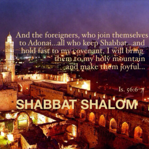Foreigners Shabbat