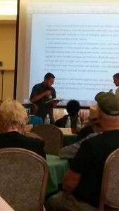 Tommy reading at Congress
