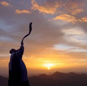 Image result for blowing the shofar on rosh chodesh