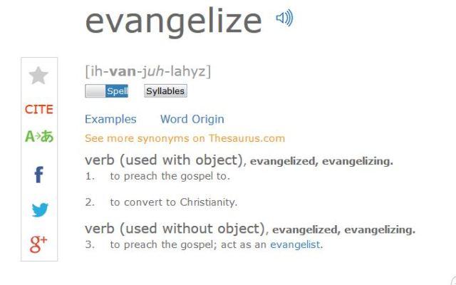 dictionary evangelize