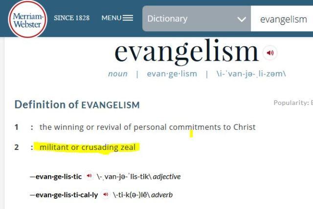 merriam webster evangelize